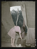 Child of white migrant worker building fire by rvdb, photography->manipulation gallery