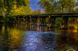 Lowell Mi Train Trestle Bridge by stylo, photography->bridges gallery