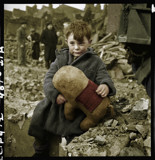 Abandoned boy holding a stuffed toy animal by rvdb, photography->manipulation gallery