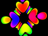 Glowing Hearts by catwink20, Abstract->Fractal gallery