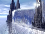 the waterfall by theft, computer->landscape gallery
