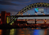 A Night on the Tyne 2 by biffobear, photography->bridges gallery