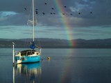 Rainbow Sailor. by trisbert, Photography->Boats gallery