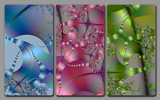 Tentacles in Triptych by tealeaves, Abstract->Fractal gallery