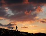 ONE MAN AND HIS DOG by LANJOCKEY, Photography->Sunset/Rise gallery