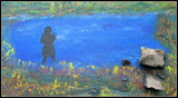 Girl with curl fishing. by rotcivski, illustrations gallery