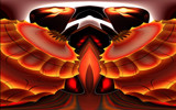 The Eternal Flame of the Rare Red Condor Bird by casechaser, abstract->fractal gallery