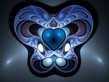 Blue Hearted...Again by razorjack51, Abstract->Fractal gallery