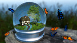 Butterfly Globe by Akeraios, computer->landscape gallery