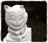 Grinning Cheshire Cat by LynEve, contests->b/w challenge gallery