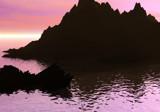 Sunset Island by u2ser, Computer->Landscape gallery