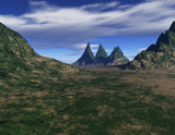 The Wizard's Hat Mountains by mmynx34, Computer->Landscape gallery
