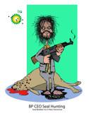 BP CEO Seal Hunting by HazyHairs, Illustrations->Digital gallery