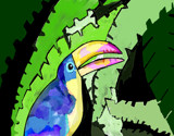 Tropical Toucan by bfrank, illustrations gallery