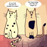 Cartoon Cat Meme by bfrank, illustrations gallery