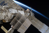 STS-128: Dawn over the ISS by philcUK, space gallery