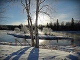 Tobique-river n.b. by GIGIBL, photography->landscape gallery