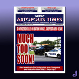 Artopolis Times - Baton Rouge Shootings by Jhihmoac, illustrations->digital gallery
