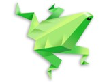 origami frog by RobinUtracik, Contests->Draw a Frog gallery