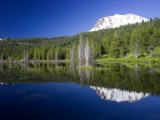Reflections of Mt Lassen by Twistedlight, Photography->Mountains gallery